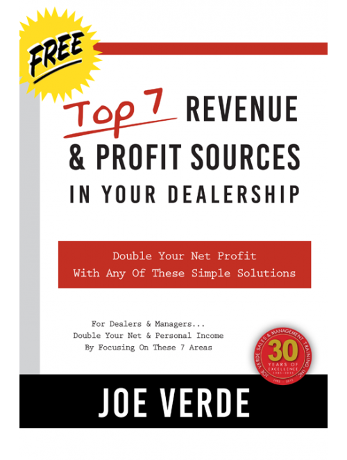 01 TOP 7 REVENUE & PROFIT SOURCES IN YOUR DEALERSHIP