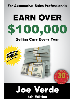 00 EARN OVER $100,000 SELLING CARS - EVERY YEAR