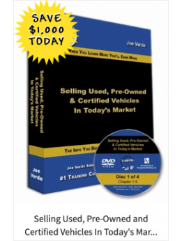 32 SELLING USED, PRE-OWNED AND CERTIFIED VEHICLES IN TODAY'S MARKET 4-DVD SET